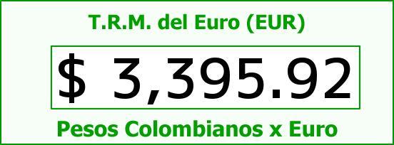 T.R.M. del Euro para hoy Domingo 20 de Septiembre de 2015