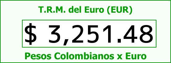 T.R.M. del Euro para hoy Domingo 22 de Noviembre de 2015