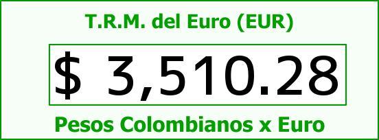 T.R.M. del Euro para hoy Domingo 23 de Agosto de 2015