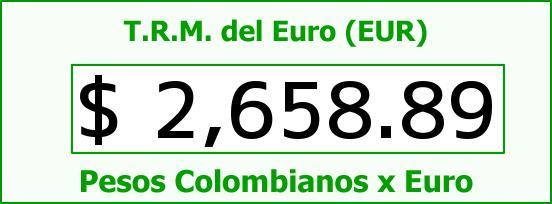 T.R.M. del Euro para hoy Domingo 23 de Noviembre de 2014