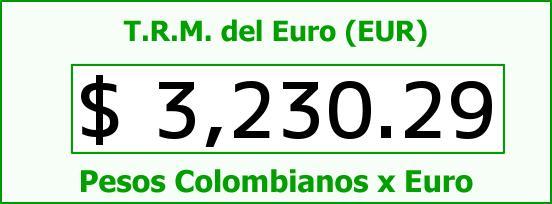 T.R.M. del Euro para hoy Domingo 24 de Julio de 2016