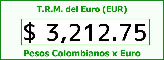 T.R.M. del Euro para hoy Domingo 25 de Octubre de 2015