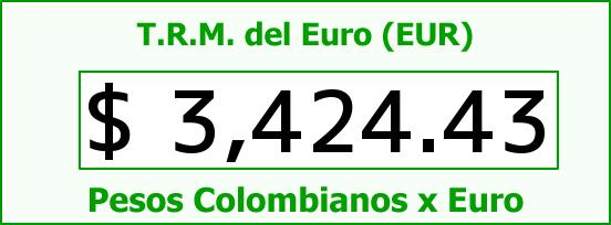 T.R.M. del Euro para hoy Domingo 27 de Marzo de 2016