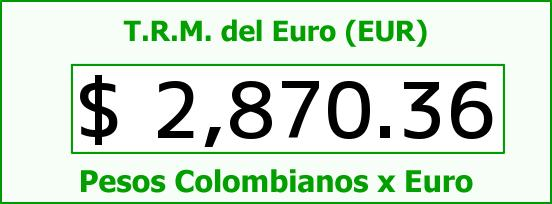 T.R.M. del Euro para hoy Domingo 28 de Diciembre de 2014
