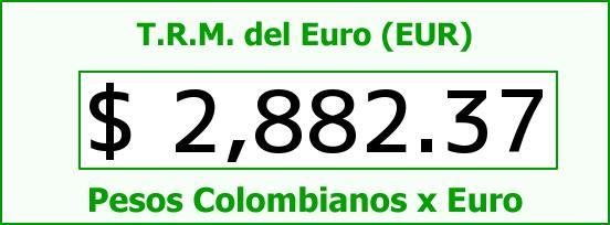 T.R.M. del Euro para hoy Domingo 28 de Junio de 2015