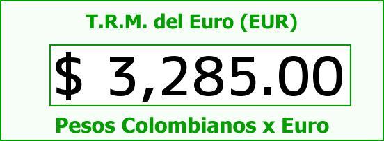 T.R.M. del Euro para hoy Domingo 29 de Noviembre de 2015