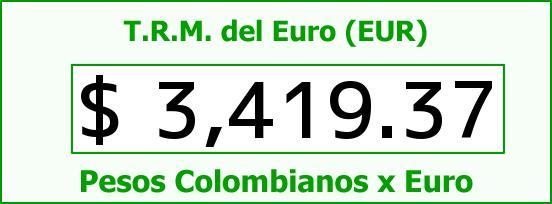 T.R.M. del Euro para hoy Domingo 3 de Abril de 2016