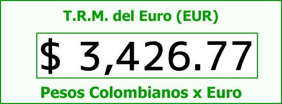 T.R.M. del Euro para hoy Domingo 31 de Julio de 2016