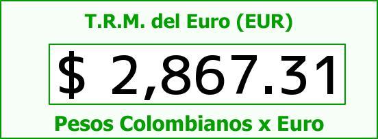T.R.M. del Euro para hoy Domingo 4 de Enero de 2015
