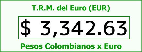T.R.M. del Euro para hoy Domingo 4 de Septiembre de 2016