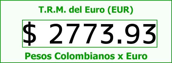 T.R.M. del Euro para hoy Domingo 5 de Abril de 2015
