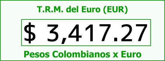 T.R.M. del Euro para hoy Domingo 6 de Diciembre de 2015