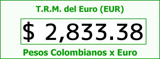T.R.M. del Euro para hoy Domingo 7 de Diciembre de 2014