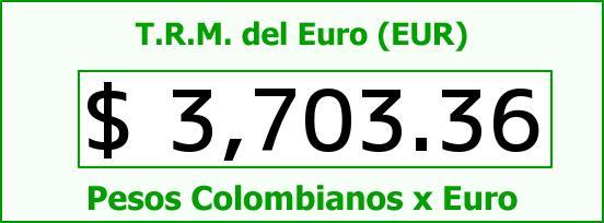 T.R.M. del Euro para hoy Domingo 7 de Febrero de 2016