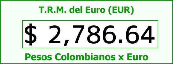 T.R.M. del Euro para hoy Domingo 8 de Marzo de 2015
