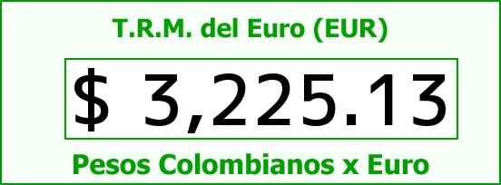 T.R.M. del Euro para hoy Domingo 9 de Agosto de 2015