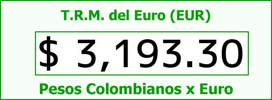 T.R.M. del Euro para hoy Domingo 9 de Julio de 2017