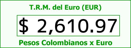 T.R.M. del Euro para hoy Domingo 9 de Noviembre de 2014