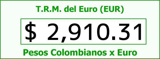 T.R.M. del Euro para hoy Jueves 1 de Enero de 2015