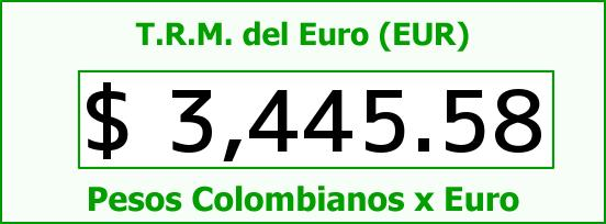 T.R.M. del Euro para hoy Jueves 1 de Octubre de 2015
