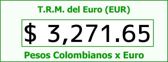 T.R.M. del Euro para hoy Jueves 1 de Septiembre de 2016
