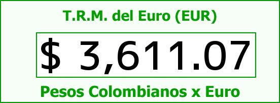 T.R.M. del Euro para hoy Jueves 10 de Diciembre de 2015