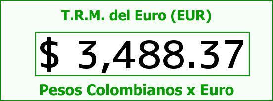 T.R.M. del Euro para hoy Jueves 10 de Marzo de 2016