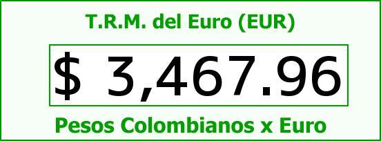 T.R.M. del Euro para hoy Jueves 10 de Septiembre de 2015