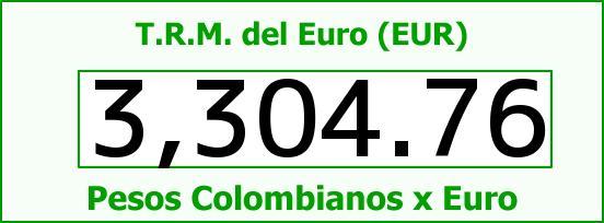 T.R.M. del Euro para hoy Jueves 11 de Agosto de 2016