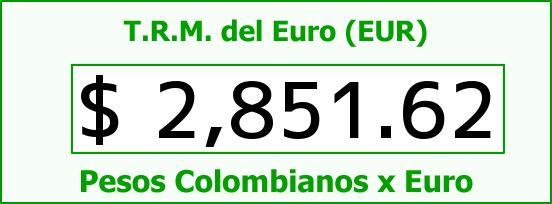 T.R.M. del Euro para hoy Jueves 11 de Junio de 2015