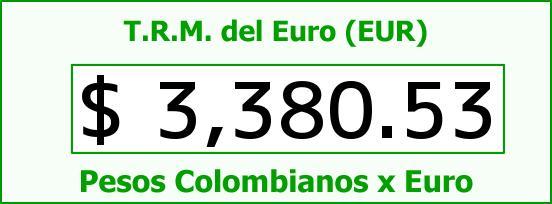 T.R.M. del Euro para hoy Jueves 12 de Mayo de 2016