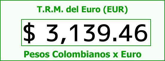T.R.M. del Euro para hoy Jueves 12 de Noviembre de 2015
