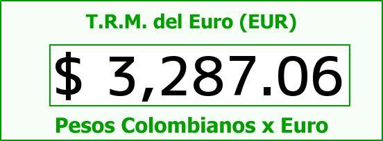 T.R.M. del Euro para hoy Jueves 13 de Agosto de 2015