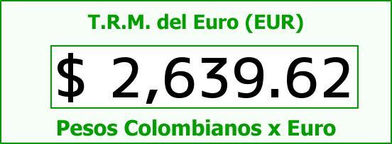 T.R.M. del Euro para hoy Jueves 13 de Noviembre de 2014