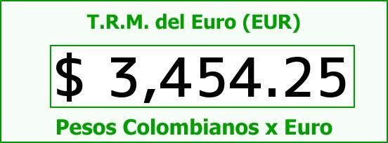 T.R.M. del Euro para hoy Jueves 14 de Abril de 2016