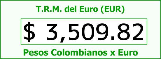 T.R.M. del Euro para hoy Jueves 14 de Enero de 2016