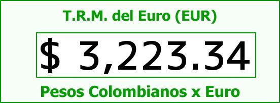 T.R.M. del Euro para hoy Jueves 14 de Julio de 2016