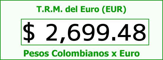T.R.M. del Euro para hoy Jueves 14 de Mayo de 2015