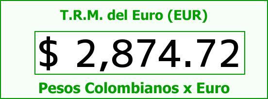 T.R.M. del Euro para hoy Jueves 15 de Enero de 2015