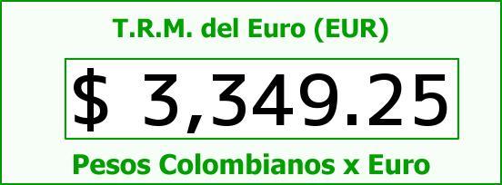 T.R.M. del Euro para hoy Jueves 15 de Octubre de 2015