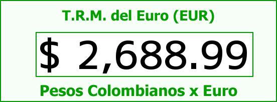 T.R.M. del Euro para hoy Jueves 16 de Abril de 2015