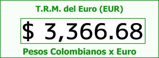 T.R.M. del Euro para hoy Jueves 16 de Junio de 2016