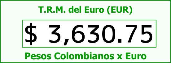 T.R.M. del Euro para hoy Jueves 17 de Diciembre de 2015