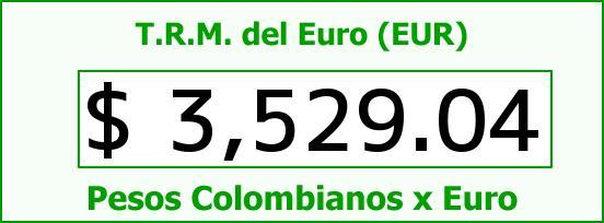 T.R.M. del Euro para hoy Jueves 17 de Marzo de 2016