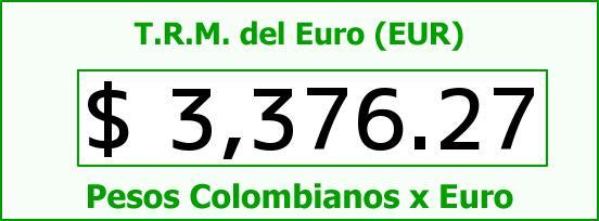 T.R.M. del Euro para hoy Jueves 17 de Septiembre de 2015