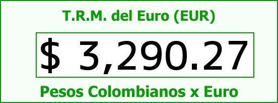 T.R.M. del Euro para hoy Jueves 18 de Agosto de 2016