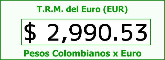 T.R.M. del Euro para hoy Jueves 18 de Diciembre de 2014