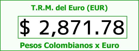 T.R.M. del Euro para hoy Jueves 18 de Junio de 2015