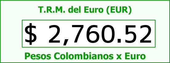 T.R.M. del Euro para hoy Jueves 19 de Febrero de 2015