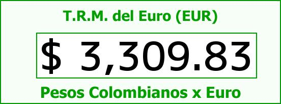 T.R.M. del Euro para hoy Jueves 19 de Noviembre de 2015